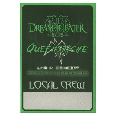 Queensryche authentic 2003 Tribe Tour Dream Theater satin Backstage Pass crew