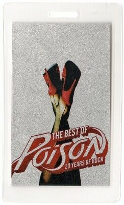 Poison authentic 2006 concert Laminated Backstage Pass 20 Years of Rock Tour