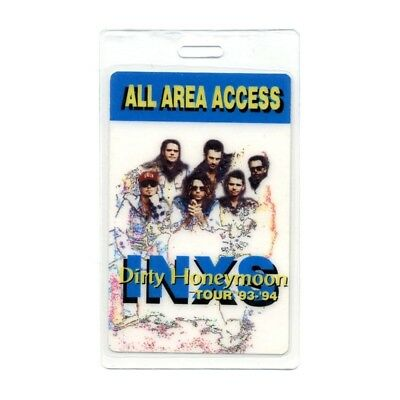 INXS authentic 1993-1994 concert Laminated Backstage Pass Dirty Honeymoon Tour