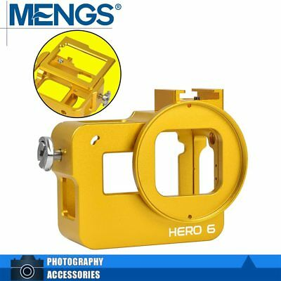 MENGS GP-105 Housing Protective Case & Back Cover Golden For Gopro Hero6 Black