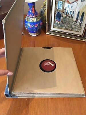 Vintage Group Lot 12 Gramophone Records & Album Storage Folder