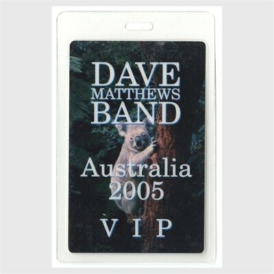 Dave Matthews Band authentic 2005 concert Laminate Backstage Pass Australia Tour