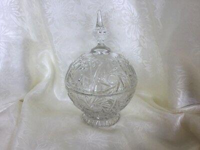 Large Crystal Lidded Sweets/cotton Ball Container