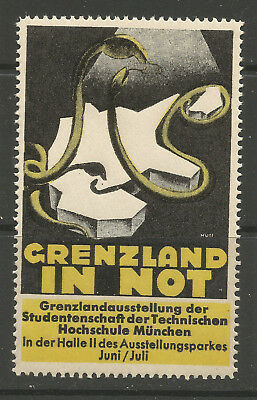 Germany/Munich GRENZLAND IN NOT poster stamp/label