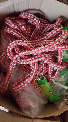 Job lot lead ropes panic catch red & grey