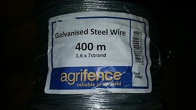 Electric fence wire galvanised steel 400m Agrifence