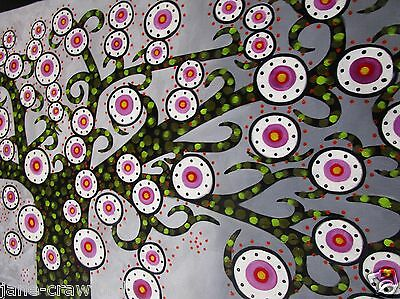 """Huge Tree Painting aboriginal Art  Canvas Quality by Jane COA Authentic 83"""""""