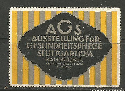 Germany/Stuttgart 1914 Good Health Exhibition poster stamp/label (B)