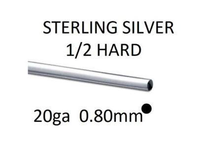 925 Sterling Silver 20 Gauge (0.80mm) Half Hard Round Wire Jewellery Wrapping