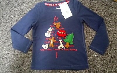 Gorgeous girls Next Christmas T Shirt 4 years embellished sequins bnwt