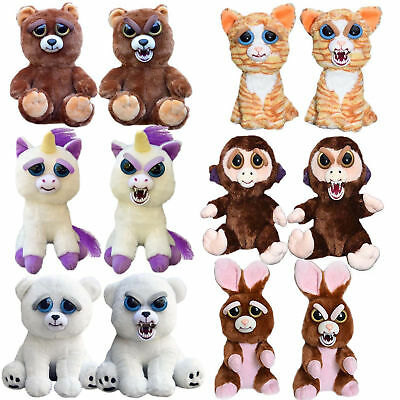 Feisty Pets - Soft Plush Stuffed Scary Face Toy Animal With Attitude Funny Toys