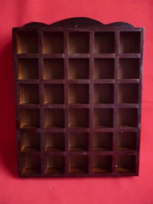 Wooden Thimble rack hold's 30 thimbles