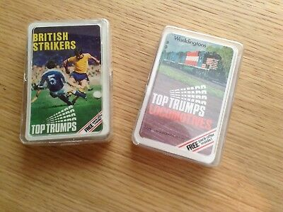 VINTAGE DUBREQ TOP TRUMPS CARD GAME- BRITISH STRIKERS (1970's)