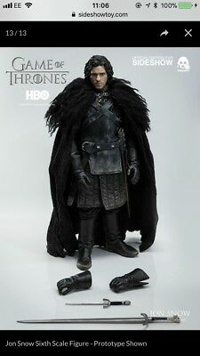 Threezero 1/6 Game of Thrones Jon Snow rare for auction!!!!