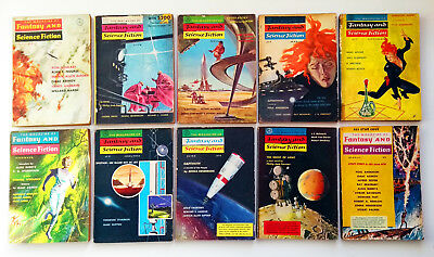 The Magazine of Fantasy & Science Fiction US Edition. 10 Magazines from The '50s