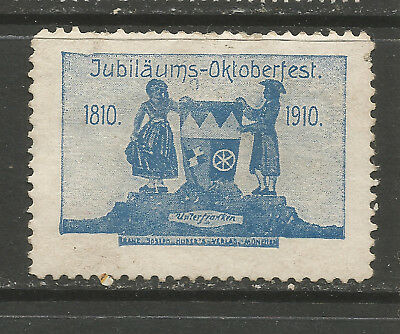 Germany/Munich 1910 100th Anniversary Oktoberfest poster stamp (Lower Franconia)