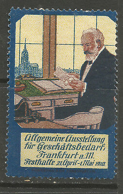 Germany/Frankfurt 1910 General Business Needs Exhibition poster stamp/label