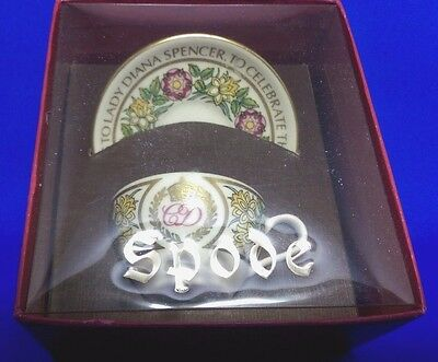 Vintage 1981 SPODE Miniature Cup & Saucer CHARLES & DIANA ROYAL WEDDING  - Boxed