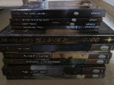 Deadlands Reloaded RPG and 12 Sourcebooks and Supplements