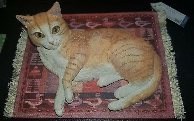 Country Artists Lesley Anne Ivory Cats D2 on Peruvian woven rug 02021 new in box