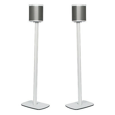 Sonos Play1: FLEXSON FLOOR STAND : 1 PAIR IN White   (BLACK ALSO AVAILABLE )