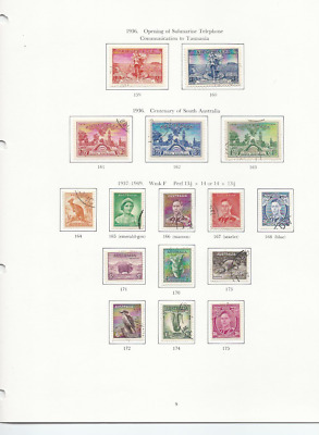 AUSTRALIA 1936-52 KG6 WITH £1x2, COIL JOINS ETC ALL FU (~120) HIGH CAT