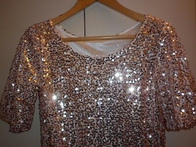 Vintage Pink  Sequin Top Size Small Excellent Condition