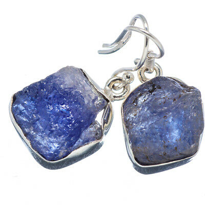 "Tanzanite 925 Sterling Silver Earrings 1 1/4"" Ana Co Jewelry E347798F"