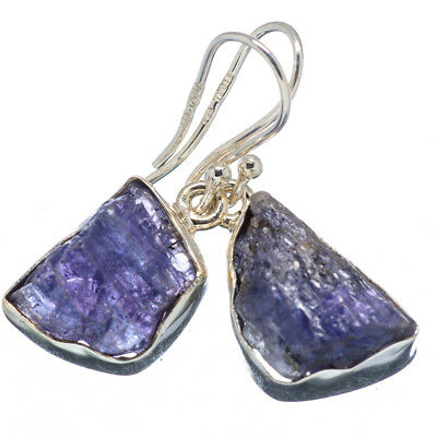 "Tanzanite 925 Sterling Silver Earrings 1 1/4"" Ana Co Jewelry E347907F"