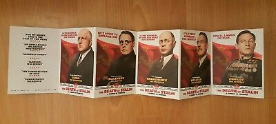 The Death Of Stalin (2017) - Film Movie Promotional Foldout Flyer - Jason Isaacs