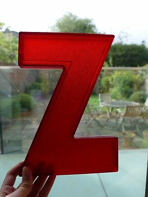 """Amazing vintage 1960/70s Wagner cinema marquee letter Z plastic - 10"""" tall"""