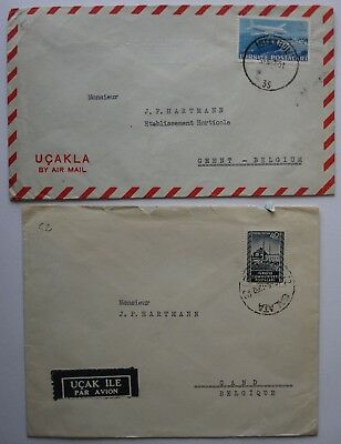 Turkey: 1950's Envelope collection.