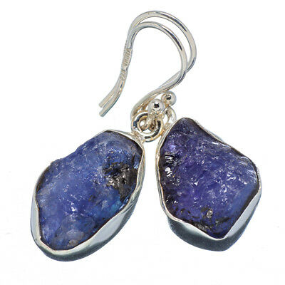 "Tanzanite 925 Sterling Silver Earrings 1 3/8"" Ana Co Jewelry E347893F"