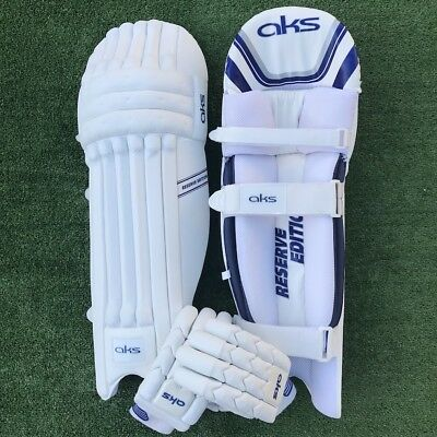 AKS Reserve Edition Batting Pads + Reserve Blue Gloves total worth $180 Now $89