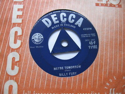 Billy Fury - Maybe Tomorrow Vg