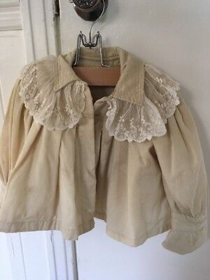 Antique Victorian Baby Coat Wool Vintage With Handmade Lace