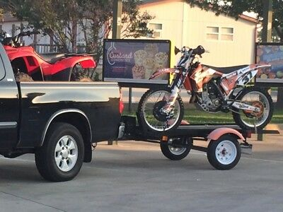 Motorcycle Trailer for two Dirt Bikes