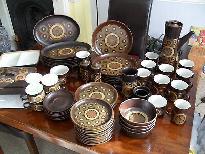 VINTAGE 1970's ARABESQUE   SERVICE, TOTAL 64,  ITEMS NEVER USED,