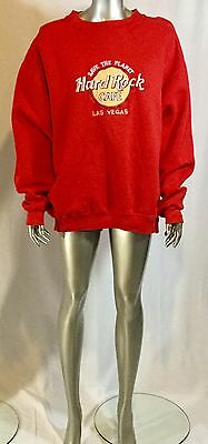Hard Rock Cafe Sweatshirt Las Vegas Save the Planet Col Red Size Large