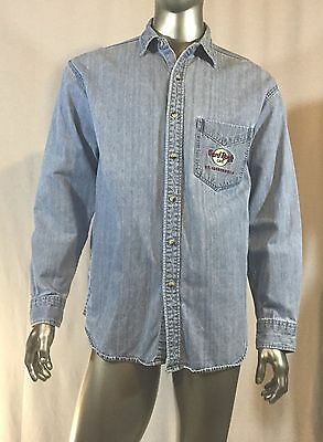 Hard Rock Cafe Denim Shirt Ft Lauderdale Size L Col Denim Baby Blue