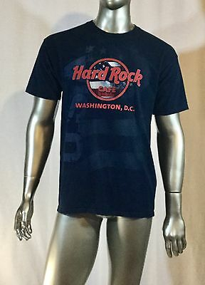 Hard Rock Cafe T Shirt Washington, D.C. Size Large Col Navy