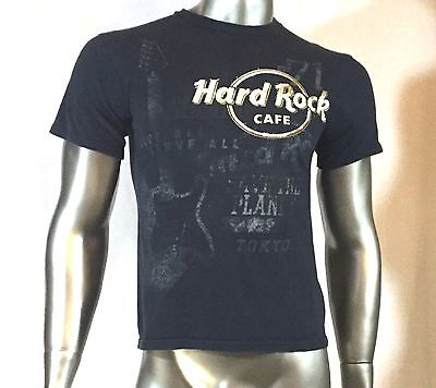 Hard Rock Cafe T Shirt Tokyo Save the planet col black size small