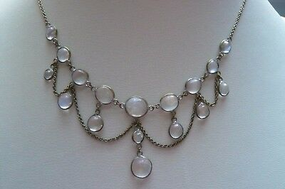 Victorian Moonstone and Gilt Metal Necklace