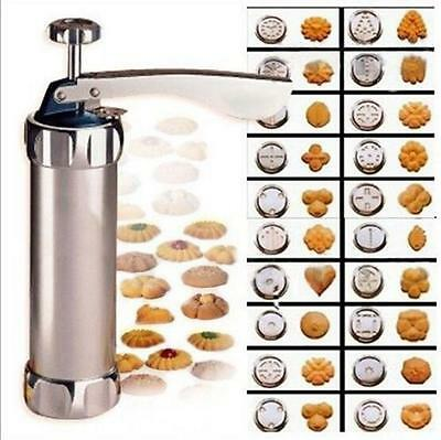 Home Buscuit Maker Cookie Extruder Press Machine 20 Pattern 4 Decorating Flowers