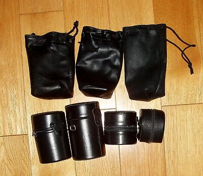 Job lot 7 vintage camera lenses cases