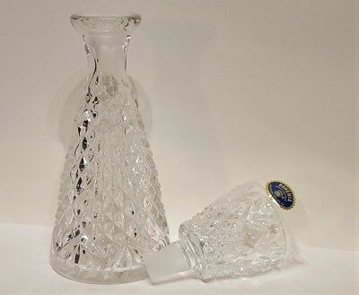 """Bohemia """"one Man's Bottle"""" Lead Crystal Decanter - Czech - Excellent Condition"""
