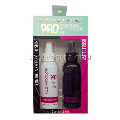 Kleancolor Pro Sealer Makeup Matte Setting Primer Pre & Prime Spray Duo #MSS2265