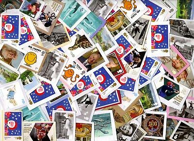 GB: 100 1st-class Commemoratives, Unfranked,  ON paper.