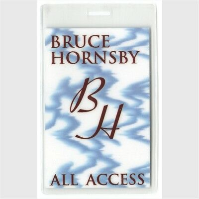 Bruce Hornsby authentic 1996 concert tour Laminated Backstage Pass ALL ACCESS