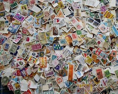 WORLD :325 grams OFF  paper mixture. All USED. Worldwide range of countries